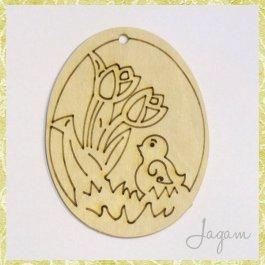 Drevený výrez - Veľkonočné vajíčko 8 cm