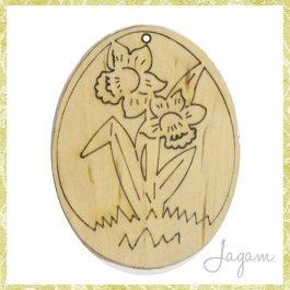 Drevený výrez - Veľkonočné vajíčko 8 cm (dv20133)