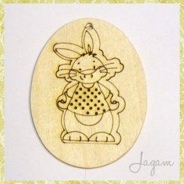 Drevený výrez - Veľkonočné vajíčko 8 cm (dv20137)