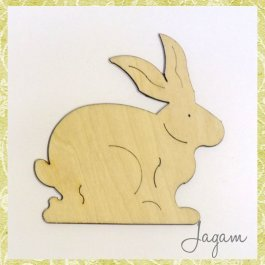 Drevený výrez - zajačik 8 cm (dv20141)