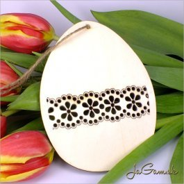 Drevený výrez - Veľkonočné vajíčko 11 cm (vn20144)