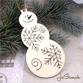 Vianočná ozdoba - snehuliak 10 cm 1 ks (dv1062)