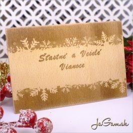 Drevená vianočná pohľadnica 10 x 15 cm (dv001)