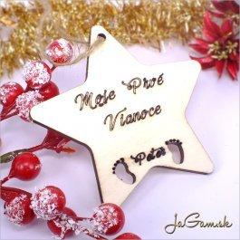 Drevená vianočná ozdoba 9 cm 1 ks (dv1075)