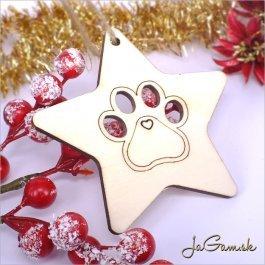 Drevená vianočná ozdoba 9 cm 1 ks (dv1076)
