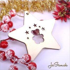 Drevená vianočná ozdoba 9 cm 1 ks (dv1078)