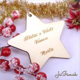 Drevená vianočná ozdoba 9 cm 1 ks (dv1080)