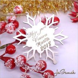 Drevená vianočná ozdoba 9 cm 1 ks (dv1082)