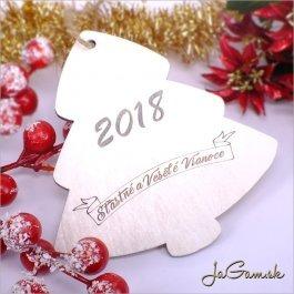 Drevená vianočná ozdoba 9 cm 1 ks (dv1083b)