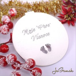 Drevená vianočná ozdoba 9 cm 1 ks (dv1085b)