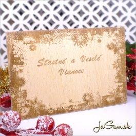 Drevená vianočná pohľadnica 10 x 15 cm (dv002)