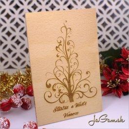 Drevená vianočná pohľadnica 10 x 15 cm (dv004)