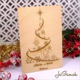 Drevená vianočná pohľadnica 10 x 15 cm (dv005)