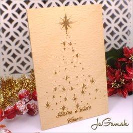 Drevená vianočná pohľadnica 10 x 15 cm (dv006)