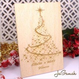 Drevená vianočná pohľadnica 10 x 15 cm (dv007)