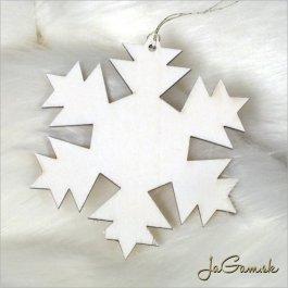 Drevená vianočná ozdoba - vločka 10 cm 1 ks (dv1097)