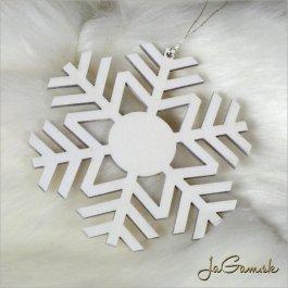 Drevená vianočná ozdoba - vločka 10 cm 1 ks (dv1094)