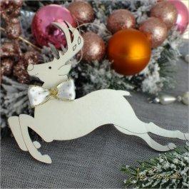 Drevená vianočná ozdoba - jelenček 10x14 cm 1 ks (dv1095zd_b)