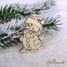 Drevený výrez - snehuliak 5ks (mdv0007)