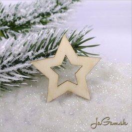 Drevený výrez - hviezda 5ks (mdv0008)