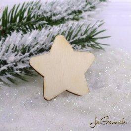 Drevený výrez - hviezda 5ks (mdv0010)