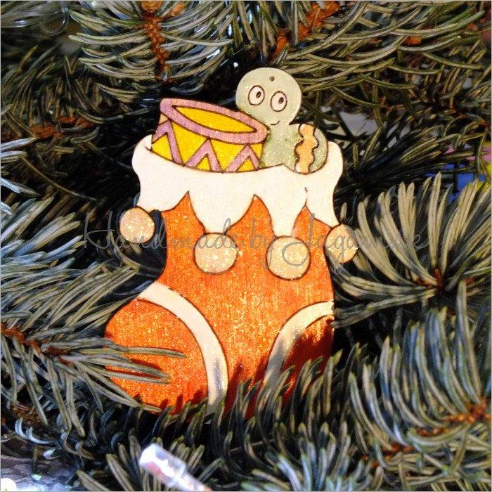 Vianočná ozdoba - Čižma 8cm, 1ks