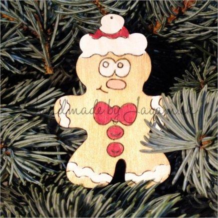 Vianočná ozdoba - medovník 8cm, 1ks
