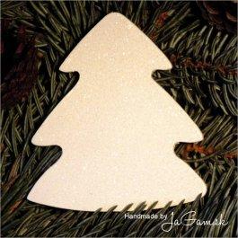 Vianočná ozdoba - zasnežený stromček 8cm, 1ks