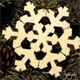 Vianočná ozdoba - Snehová vločka 8cm, 1ks