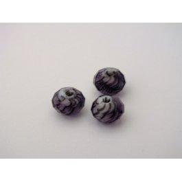 Korálky brúsené 8 mm fialová 2 ks