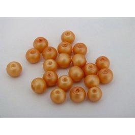 Voskované perly 6mm marhuľová matná 10 ks (13/2)