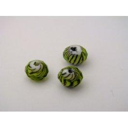 Korálky brúsené 8 mm zelené 2 ks