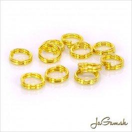 Dvojitý krúžok 6 mm zlatý 10 ks