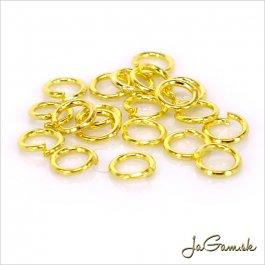 Spojovací krúžok 4 mm zlatý 1g (cca16 ks)