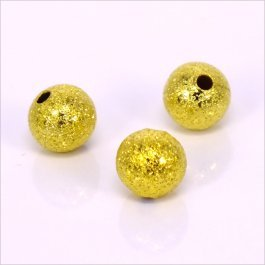 Kovové korálky - guličky 8mm, zlaté 20 ks (64_105)
