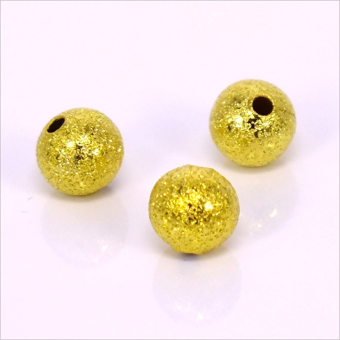 Kovové korálky - guličky 4mm, zlaté 100ks (129)