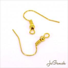 Náušnicový afroháčik s guličkou zlatý 10 ks (CN003)