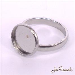 Základ na prsteň s lôžkom 12mm chirurgická oceľ, 1ks (ch1162)