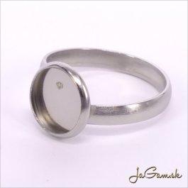 Základ na prsteň s lôžkom 10mm chirurgická oceľ (ch1163)