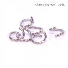 Spojovací krúžok 5 mm CHIRURGICKÁ OCEĽ - 2g-cca 40 ks (1019)