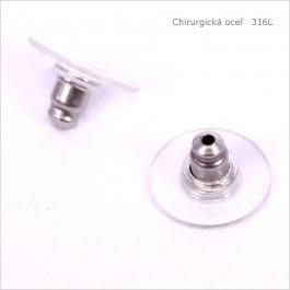 Zarážka na náušnice CHIRURGICKÁ OCEĽ 12x7mm, 2ks (1015)