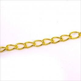 Retiazka 5,5x3,4mm, zlatá 0,5m (801-1)