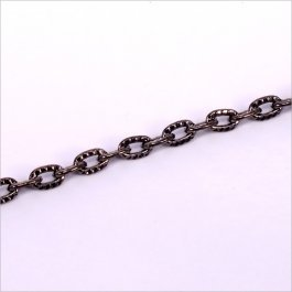 Retiazka 1x3,6x5,4mm, rodium 0,5m (805-5)