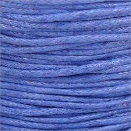 Voskovaná šnúrka 1mm, modrá - 1m (1302)