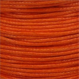 Voskovaná šnúrka 1mm, oranžovo-červená - 1m (1303)