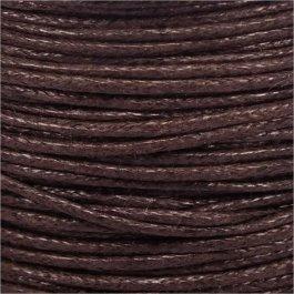 Voskovaná šnúrka 1mm, hnedá - 1m (1305)
