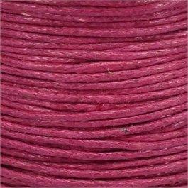 Voskovaná šnúrka 1mm, ružová - 1m (1309)