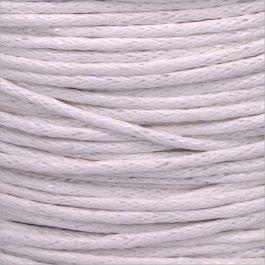 Voskovaná šnúrka 1mm, biela/šedá - 1m (1306)