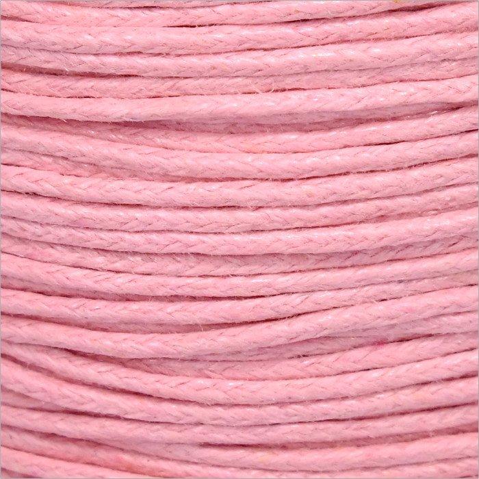 Voskovaná šnúrka 1mm, ružová - 1m (1301)