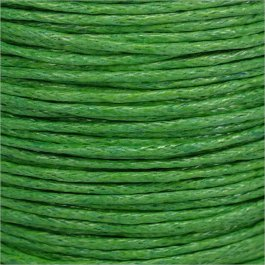 Voskovaná šnúrka 1mm, zelená - 1m (1311)